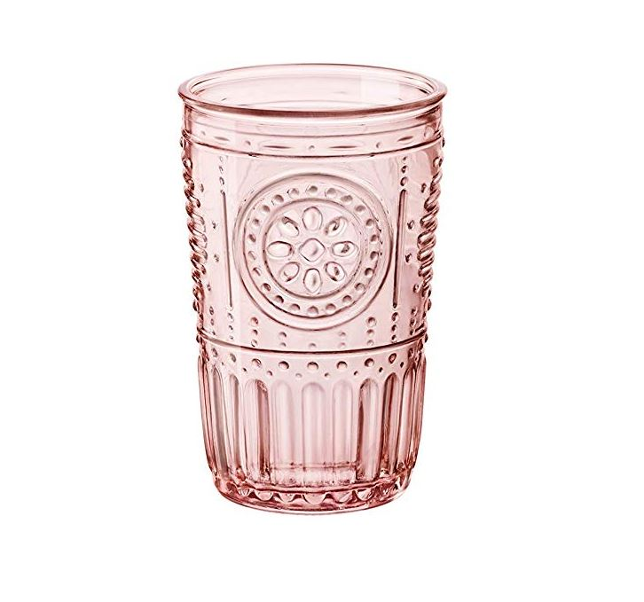 11 oz. Pink Embossed Water Glass Rentals