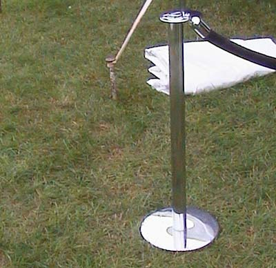 Stanchion Upright/Base (Chrome) Rentals