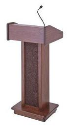 Cherry Floor Lectern/Podium with Sound System Rentals