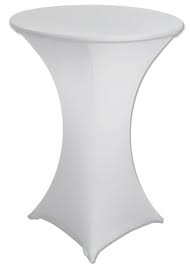 Spandex Bistro Table Cover (White or Black) Rentals